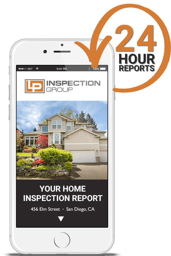 Example Home Inspection Report on Phone